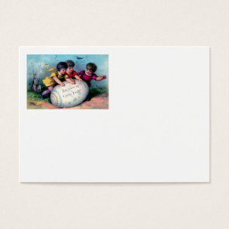 Ovo pintado colorido coelhinho da Páscoa das Cartão De Visitas