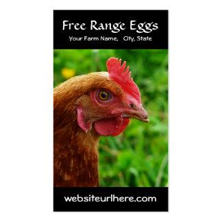Ovo que cultiva a foto rural da galinha cartão de visita
