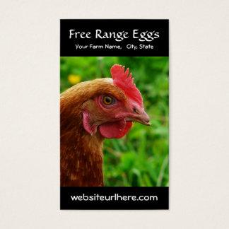 Ovo que cultiva a foto rural da galinha cartão de visitas
