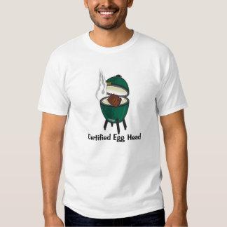 Ovo verde grande, cabeça certificada do ovo t-shirts