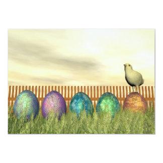 Ovos coloridos para a páscoa - 3D rendem Convite 12.7 X 17.78cm