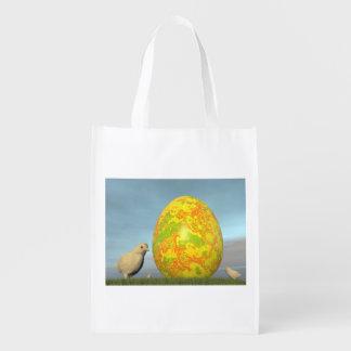 Ovos coloridos para a páscoa - 3D rendem Sacolas Ecológicas Para Supermercado