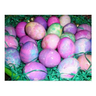 Ovos da páscoa abundante cartoes postais