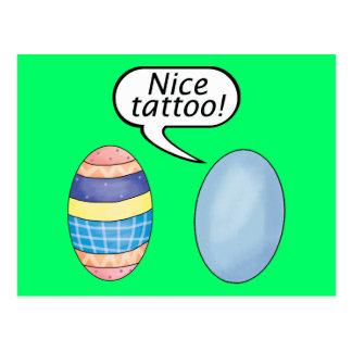Ovos da páscoa agradáveis do tatuagem cartão postal
