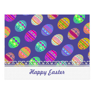 ovos da páscoa Bedazzled cor da U-picareta com Cartão Postal