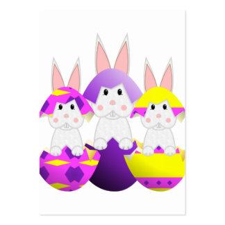 Ovos da páscoa brancos do coelho modelo cartões de visitas