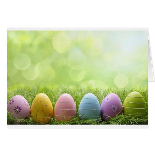 Ovos da páscoa cartão