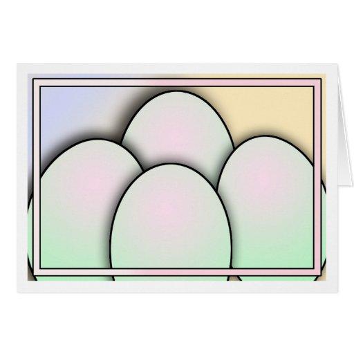 Ovos da páscoa cartao