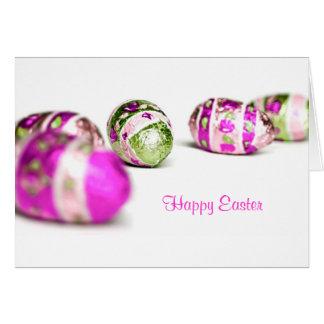 Ovos da páscoa cartão comemorativo