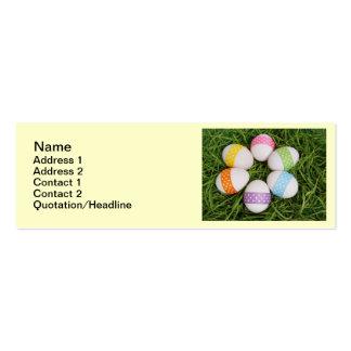 Ovos da páscoa cartão de visita