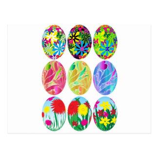 Ovos da páscoa cartão postal