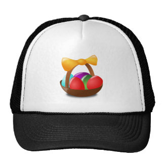 Ovos da páscoa coloridos em uns desenhos animados  boné