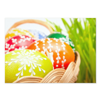 Ovos da páscoa convite 12.7 x 17.78cm