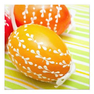 Ovos da páscoa convite quadrado 13.35 x 13.35cm