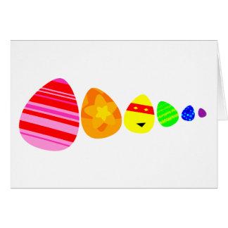 Ovos da páscoa do arco-íris cartão comemorativo