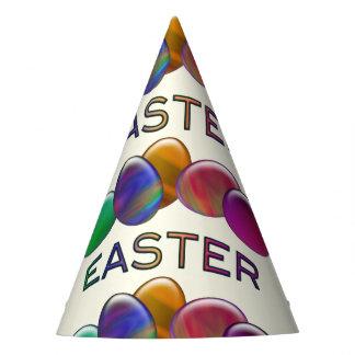 Ovos da páscoa do arco-íris chapéu de festa