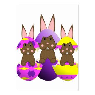 Ovos da páscoa do coelho de Brown Modelo Cartões De Visita