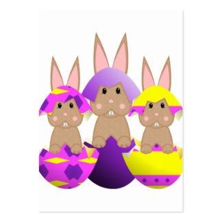 Ovos da páscoa do coelho de Tan Modelos Cartões De Visitas