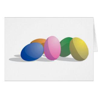 Ovos da páscoa do inclinação cartão comemorativo
