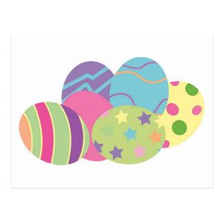 Ovos da páscoa do teste padrão cartão postal