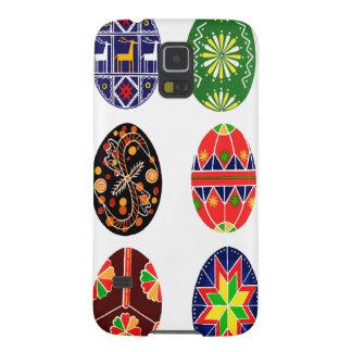 Ovos da páscoa do ucraniano de Pysanky Capas Par Galaxy S5