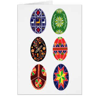 Ovos da páscoa do ucraniano de Pysanky Cartão Comemorativo