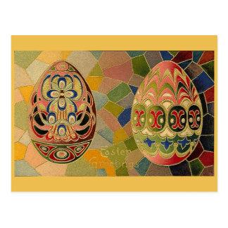 Ovos da páscoa do vintage cartão postal