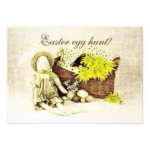 ovos da páscoa e coelhinho da Páscoa Convite