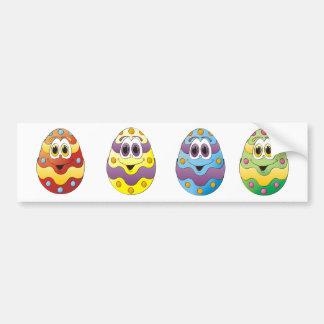 Ovos da páscoa engraçados adesivo para carro