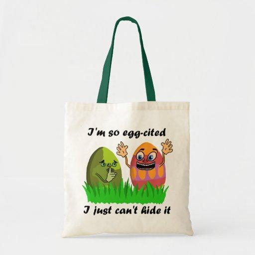 Ovos da páscoa engraçados bolsa
