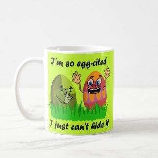 Ovos da páscoa engraçados caneca