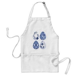 Ovos da páscoa florais azuis avental