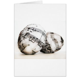 Ovos da páscoa musicais cartão comemorativo