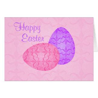 Ovos da páscoa pastel bonito cartão comemorativo