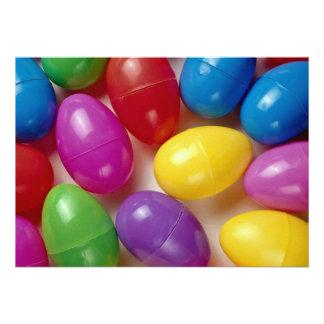 Ovos da páscoa plásticos convites personalizado