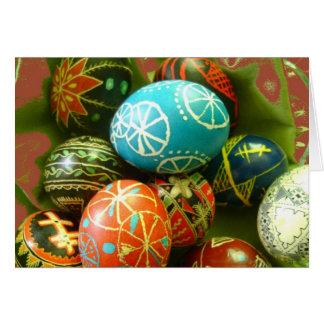 Ovos da páscoa ucranianos cartão comemorativo
