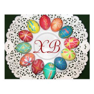 Ovos da páscoa ucranianos cartão postal