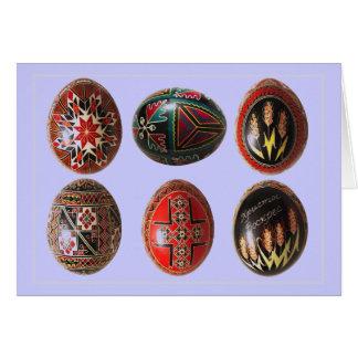 Ovos da páscoa ucranianos pintados mão cartão