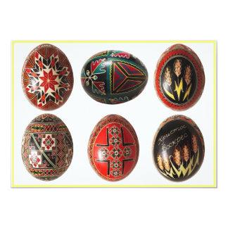 Ovos da páscoa ucranianos pintados mão convite 12.7 x 17.78cm