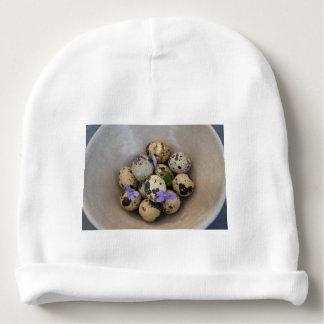 Ovos de codorniz & flores 7533 gorro para bebê