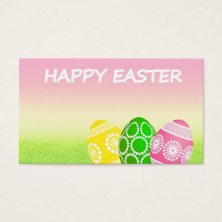 Ovos de felz pascoa cartão de visitas