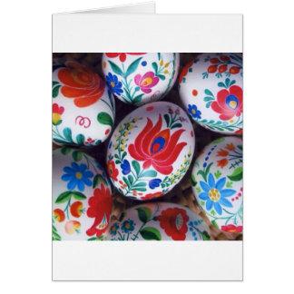 Ovos do kalocsai dos cumprimentos da páscoa cartão comemorativo