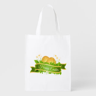 Ovos e fita de felz pascoa sacolas ecológicas para supermercado