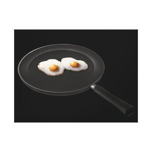 Ovos fritos - impressão das canvas impressão de canvas esticada