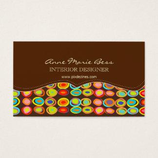 Ovos retros em cartões de visitas do chocolate