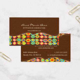 Ovos retros no fundo do chocolate DIY Cartão De Visitas