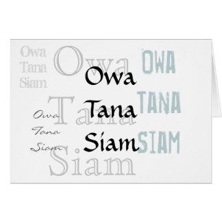 Owa Tana Sião -- Uma desculpa Cartão Comemorativo
