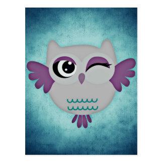 owl cartão postal
