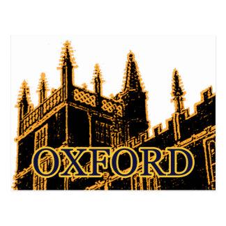 Oxford Inglaterra 1986 ouro de construção das Cartoes Postais
