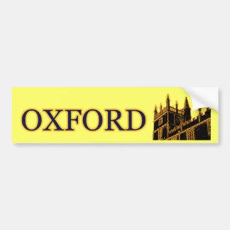 Oxford Inglaterra 1986 ouro de construção das espi Adesivo Para Carro
